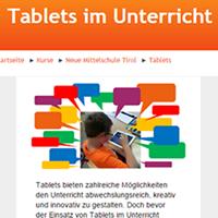 Tablets im Unterricht