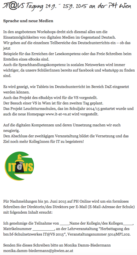 IT@VS-Herbsttagung 2015
